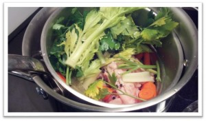 Reston Food Blog - Chicken Stock in a Pot