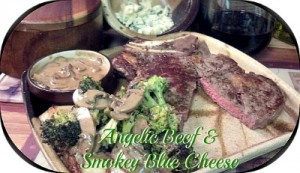 Reston Food Blog - Angelic Beef with Blue Cheese and Roasted Red Potato and Brocolli Recipe