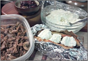 Reston Food Blog - Angelic Beef Sandwich with Blue Cheese Mousse Unbaked
