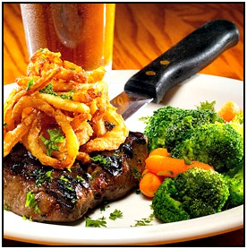 Reston Food Blog - Glory Days Flat Iron Steak