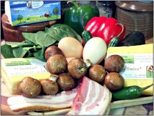 Reston Food Blog - Fresh Eggs & Spinach Omelette