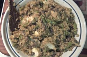 Reston Food Blog - Asparagus, Mushroom & Chicken Risotto