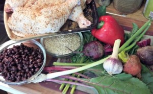 Reston Food Blog - Blackened Chicken, Rice & Beans Ingredients