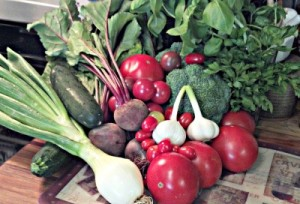 Reston Food Blog - Spring Vegetables - Zucchini, Tomatoes, Beets, Spring Onions