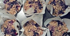 Reston Food Blog - Blueberry Oatmeal Muffins
