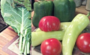 Reston Food Blog - Peppers, Tomatoes and Collards
