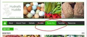 Reston Food Blog - Recipe Box Nav