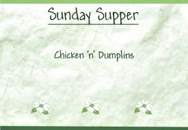 Reston Food Blog - Sunday Supper - Chicken 'n' Dumplins