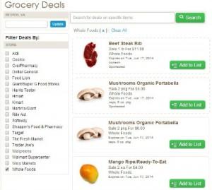 Reston Food Blog - ZipList Grocery Deals
