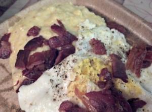 Reston Food Blog - Breakfast for Dinner Creamed Corn Grits