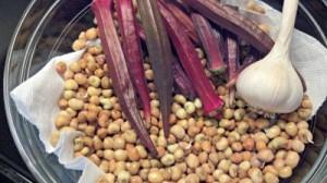 Reston Food Blog - Okra and Peas