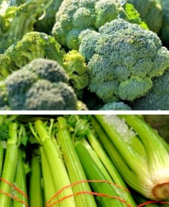 Reston Food Blog - Broccoli and Celery